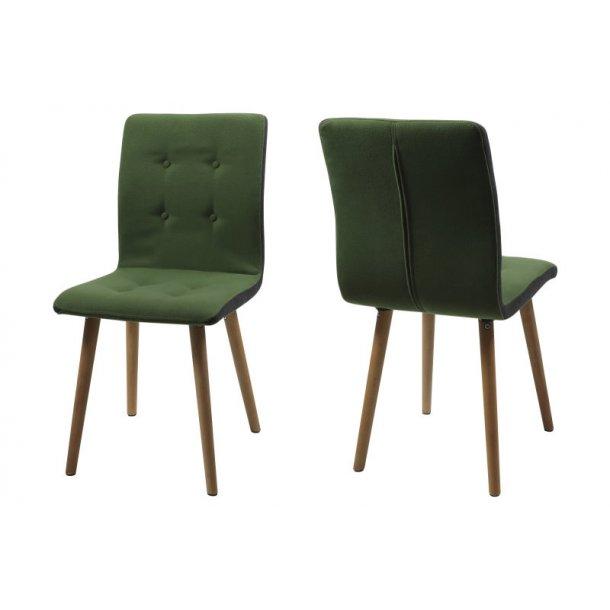 frise esszimmerstuhl in gr nen stoff und die seiten in dunkelgrau mit kn pfen bestellen sie jetzt. Black Bedroom Furniture Sets. Home Design Ideas