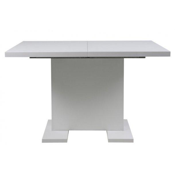 Spisebord Gustav 80 x 120 eller 160 cm i hvid højglans.