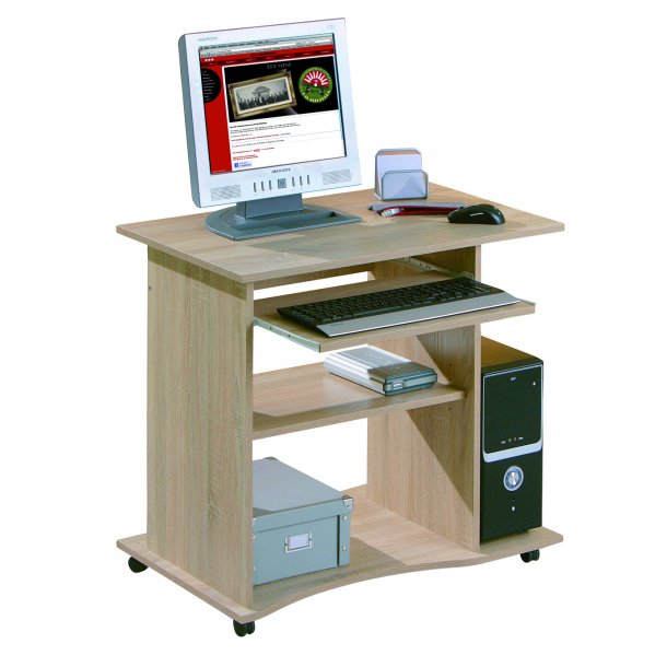 Dusa skrivebord 1 hylde, 1 tastatur udtræk Sonoma eg dekor.