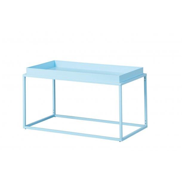 Cross sofabord L hjørnebord lyseblå.
