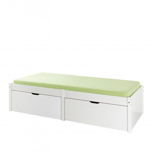 Laudrun seng 90x200 cm hvid.