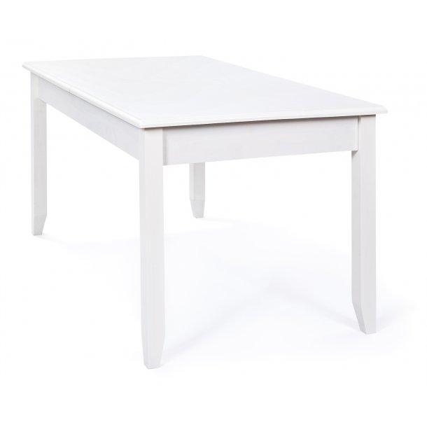 Cassy spisebord 90 x 160/200 cm med udtræk og 1 plade  antik hvid.