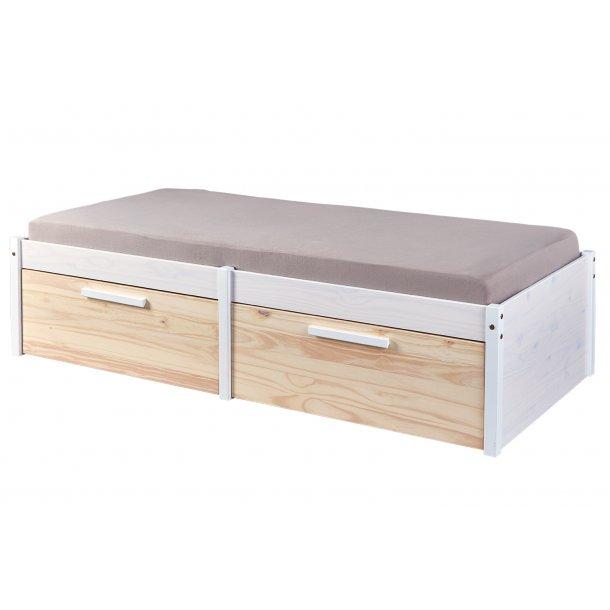 Elose seng 90x200 cm hvid, Milkyskin.
