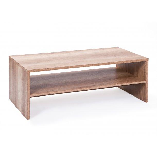 Abcent sofabord 1 hylde vild eg dekor.
