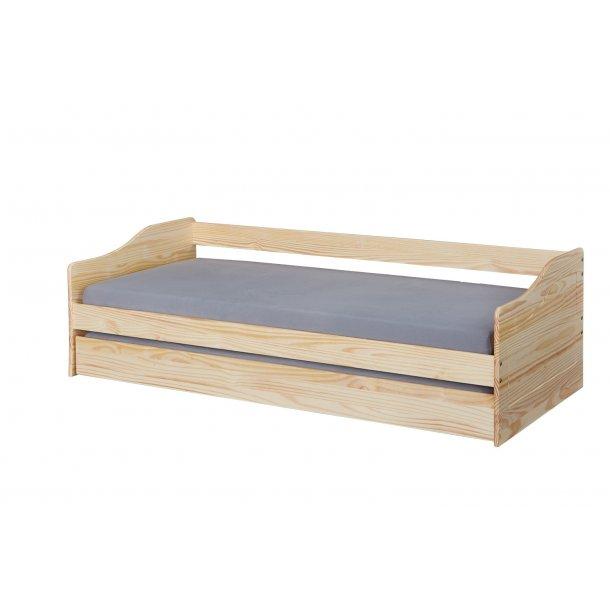 Ubrugte Malsu seng 90x200 cm med 1 udtræks seng natur. Fri fragt, lev 1-2 TI-45