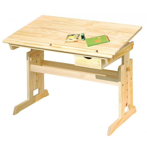 Julva skrivebord 1 skuffe natur.