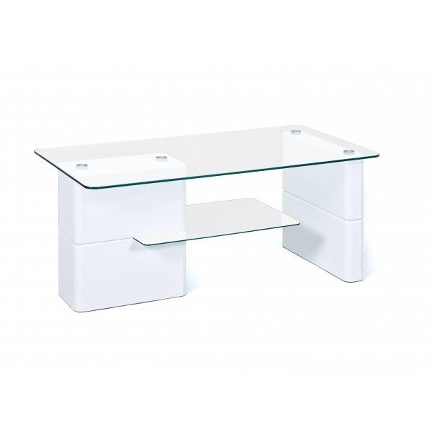 Adua sofabord 1 hylde hvid højglans.