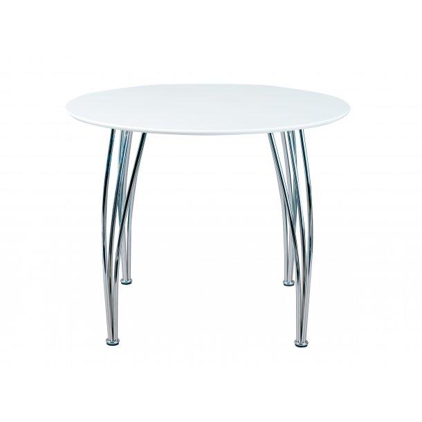 Celiksa spisebord Ø100 cm hvid, chrom.