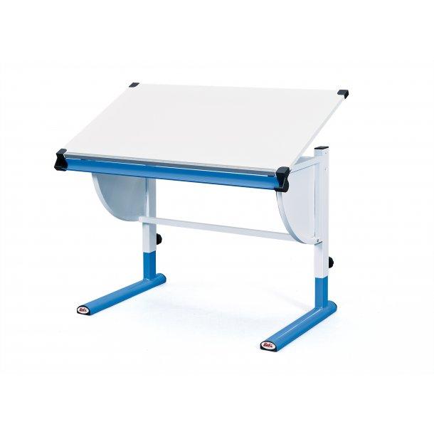 Cert skrivebord hvid, blå.