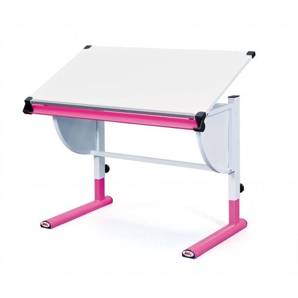 Cert skrivebord hvid, pink.