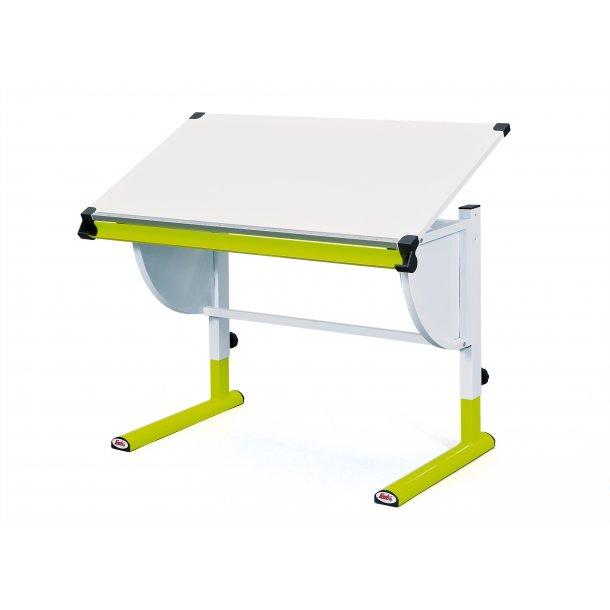 Cert skrivebord hvid, grøn.