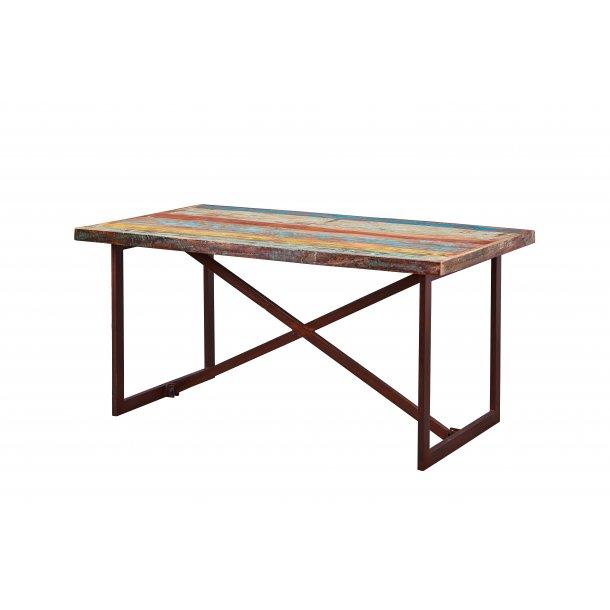 Codam spisebord rust farvet, beige, grøn, blå.