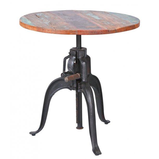 Funzar barbord Ø75 cm brun, rust farvet.