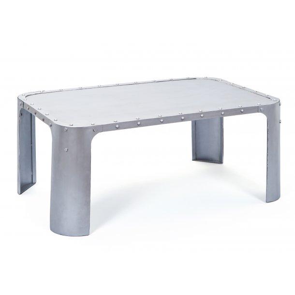 Gorwan sofabord sølv farvet.