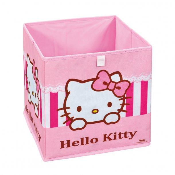 HKSP opbevaringskasser pink, hvid.