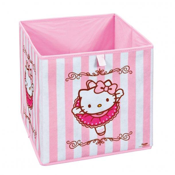 HKB opbevaringskasser pink, hvid.