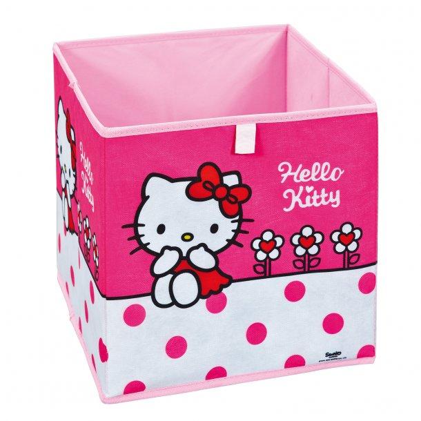HKF opbevaringskasser pink, hvid.