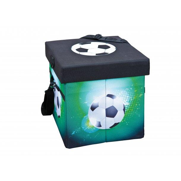 Fabo opbevaringskasser køletaske, skammel, med låg sort, hvid, grøn.