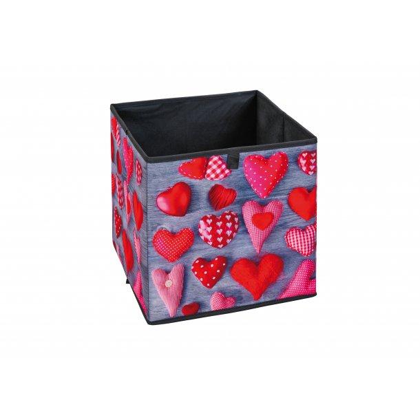 Heax opbevaringskasser sort, grå, rød, hvid.