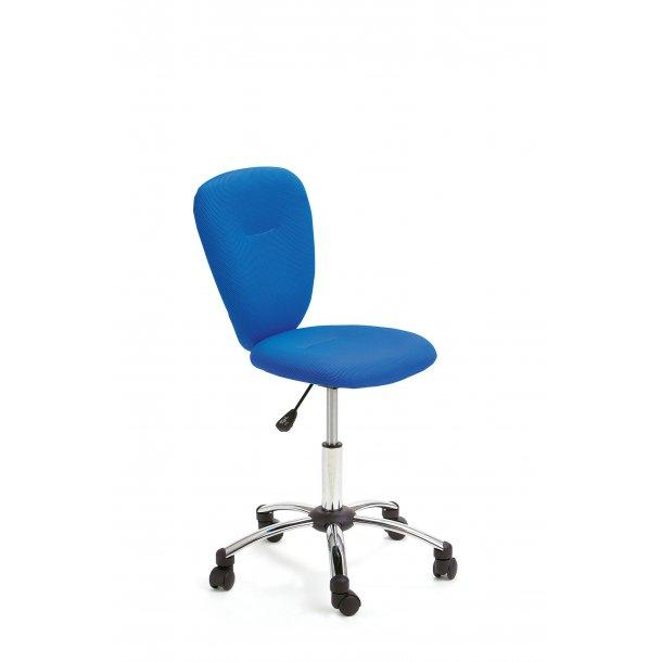Mals børne kontorstol børn blå, chrom.