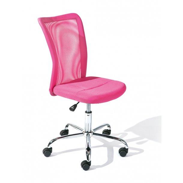 Bonan børne kontorstol pink.