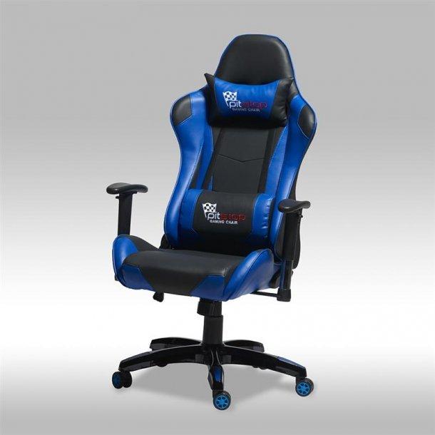 Gamer stol Wild som kontorstol i blå og sort PU kunstlæder.
