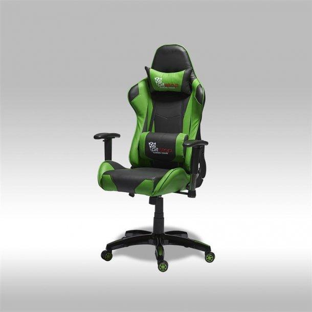 Gamer stol Wild som kontorstol i grøn og sort PU kunstlæder.