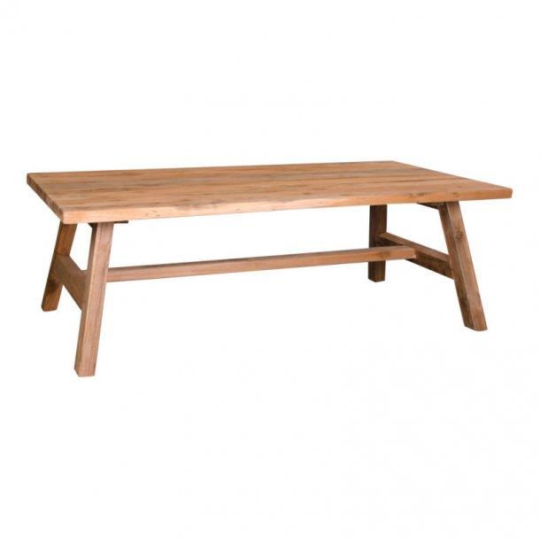 Billy sofabord 60 x 120 cm i teak natur. Leveres færdig samlet.