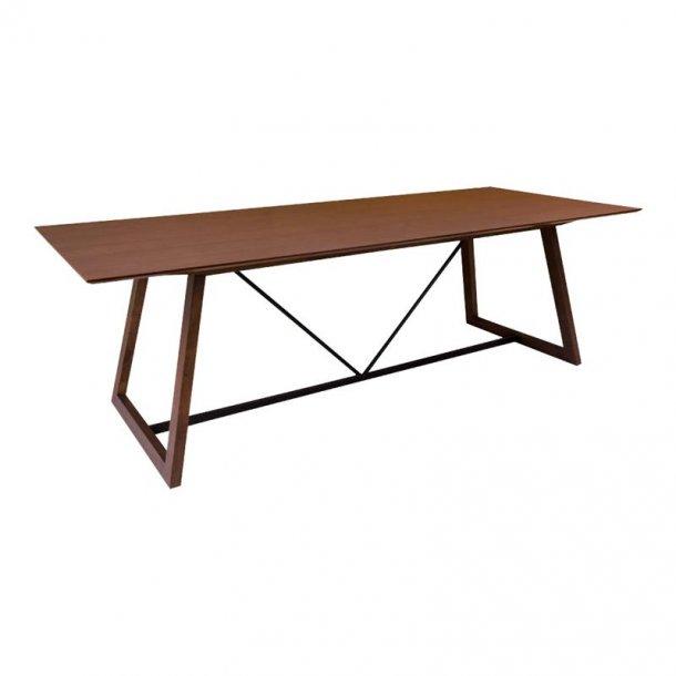 Hello spisebord 100 x 240 cm i valnød dekor.