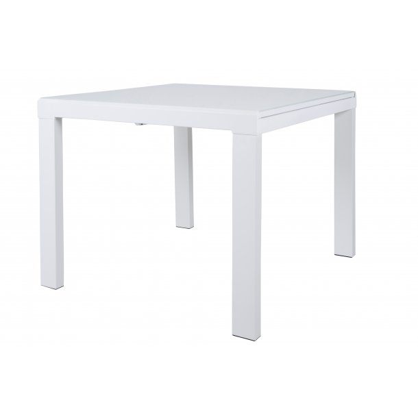 Lima spisebord 90 x 90/163 cm hvid.