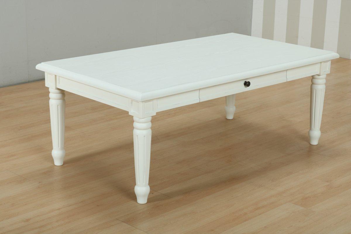 Amaretta soffbord med 2 lådor, vit.