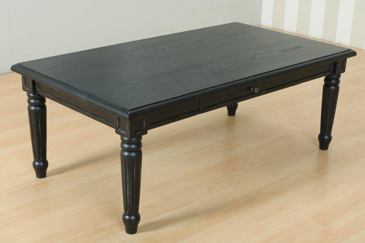 Amaretta soffbord med 2 lådor, svart .