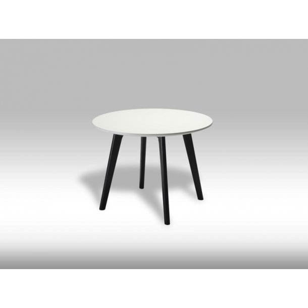 Livie sofabord Ø60 og højde 45 cm hvid og sort.