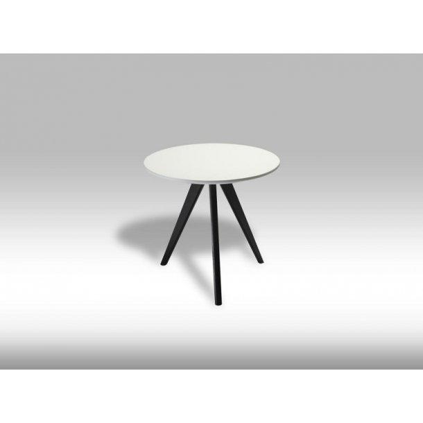 Livie sofabord Ø48 og højde 45 cm hvid og sort.