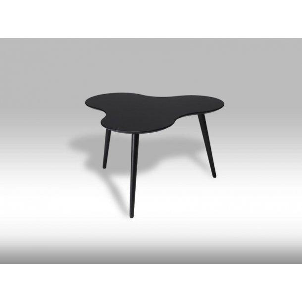 Sumi sofabord skyformet i sort.