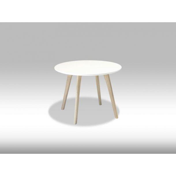 Livie sofabord Ø60 og højde 45 cm hvid og eg.