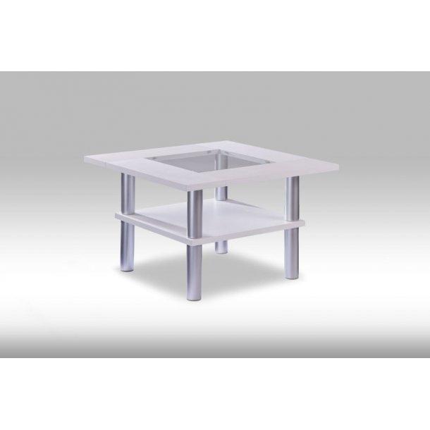 Piere hjørnebord i hvid.