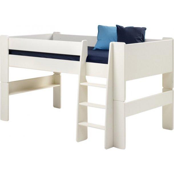 Molly Kids halvhøj seng 90x200 cm inkl. lamelbund hvid.