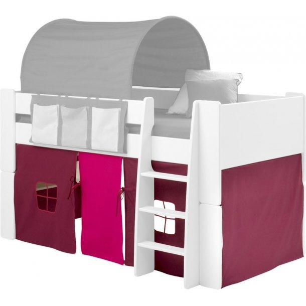 Molly Kids forheng lilla/pink tema til halvhøy seng.