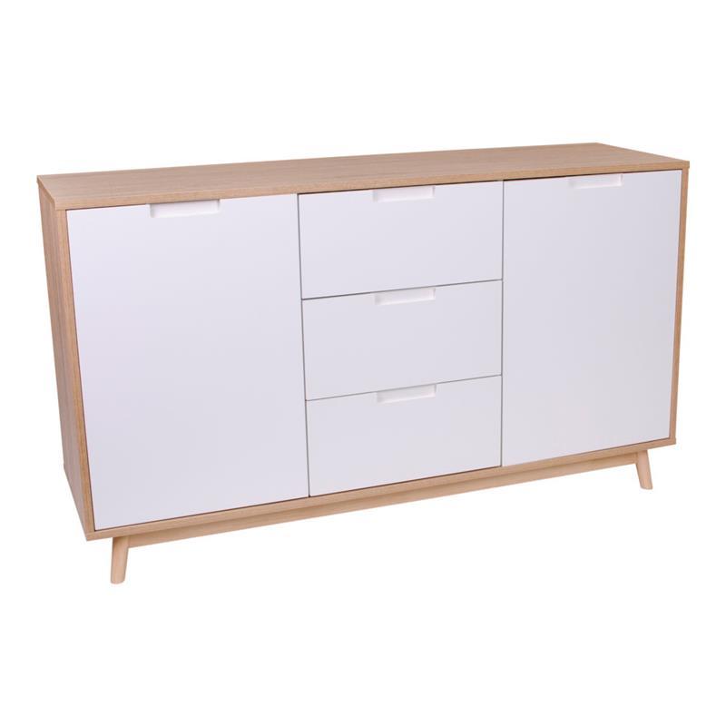 cooper schrank mit 2 t ren und 3 schubladen in wei und. Black Bedroom Furniture Sets. Home Design Ideas