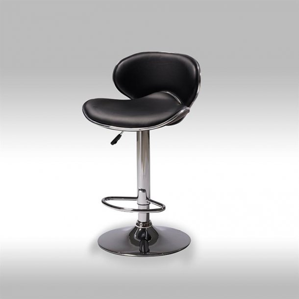 Sika barstol i sort PU kunstlæder.