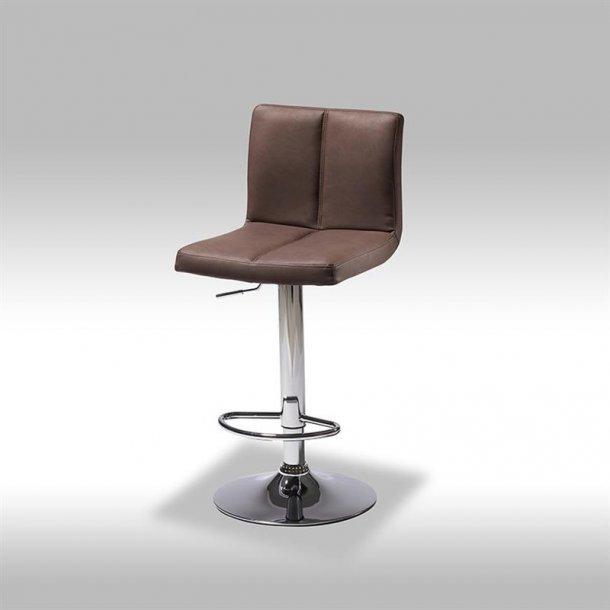 Calo barstol i mørk brun PU kunstlæder.