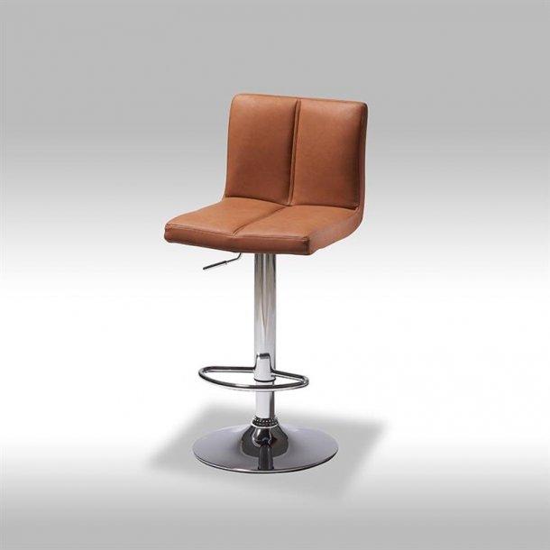Calo barstol i lys brun PU kunstlæder.