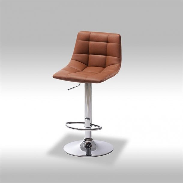 Missi barstol i lys brun PU kunstlæder.