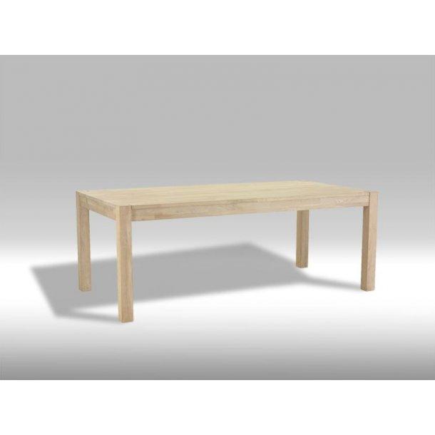 Tolle spisebord 90 x 180 cm i sæbebehandlet eg. Der er plads til 2 tillægsplader.