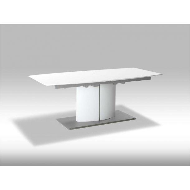 Bas spisebord 100 x 200 til 280 cm inkl. 2 tillægsplader i hvid.