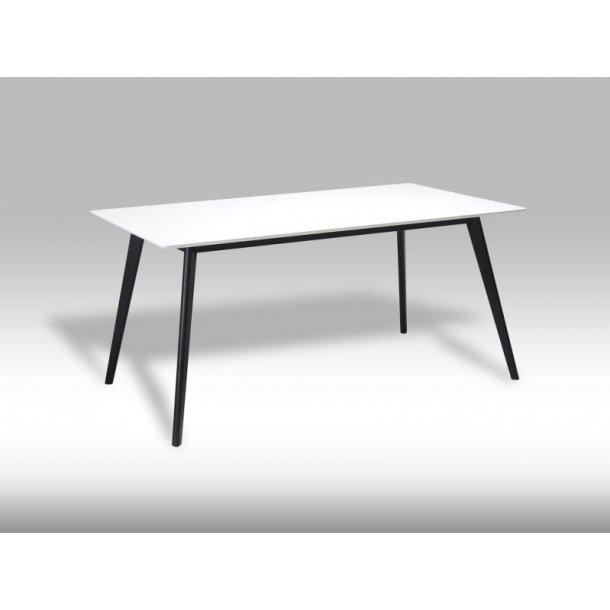 Livie spisebord 90 x 160 cm i hvid og sort.