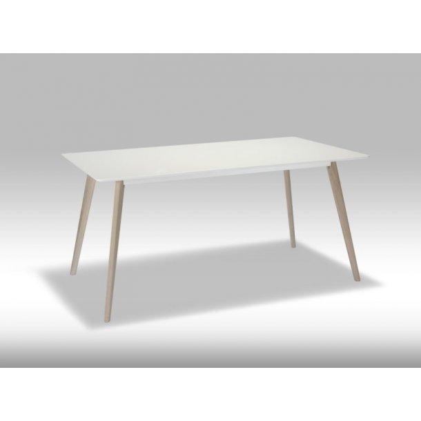 Livie spisebord 90 x 160 cm i hvid og eg.