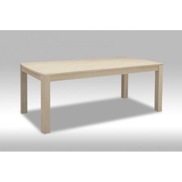 Veneto spisebord 100 x 200 cm med plads til 2 tillægsplader i hvidolieret eg.