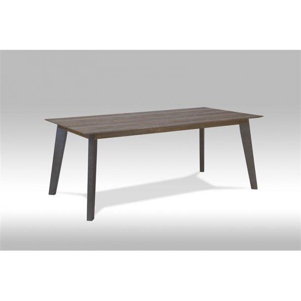 Marla spisebord 100 x 200 cm med plads til 2 tillægsplader brun / grå akacie træ.